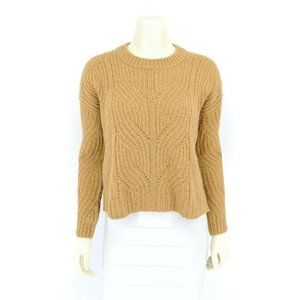 Madewell Women's Charley Pointelle Cable Knit Alpaca Pullover Sweater Top XXS